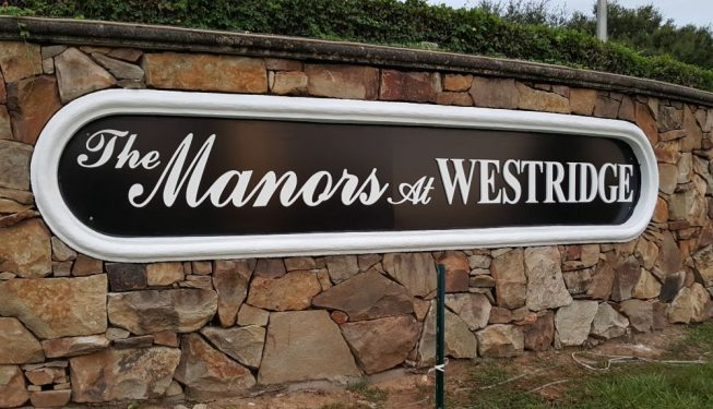 Custom post and panel signs orlando florida the manors sign