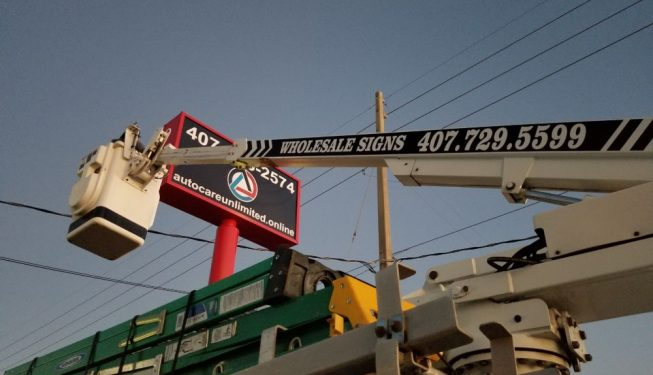 Custom post and panel signs orlando florida installation