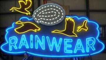 rainwear neon sign
